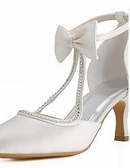 Women's Shoes Satin Spring / Summer / Fall Heels / Pointed Toe / Closed Toe Wedding Stiletto Heel Rhinestone / BowknotBlack / Blue / Pink
