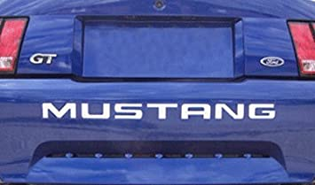 99-04 FORD MUSTANG LETTERS REAR BUMPER INSERTS VINYL DECALS GRAPHICS STICKERS