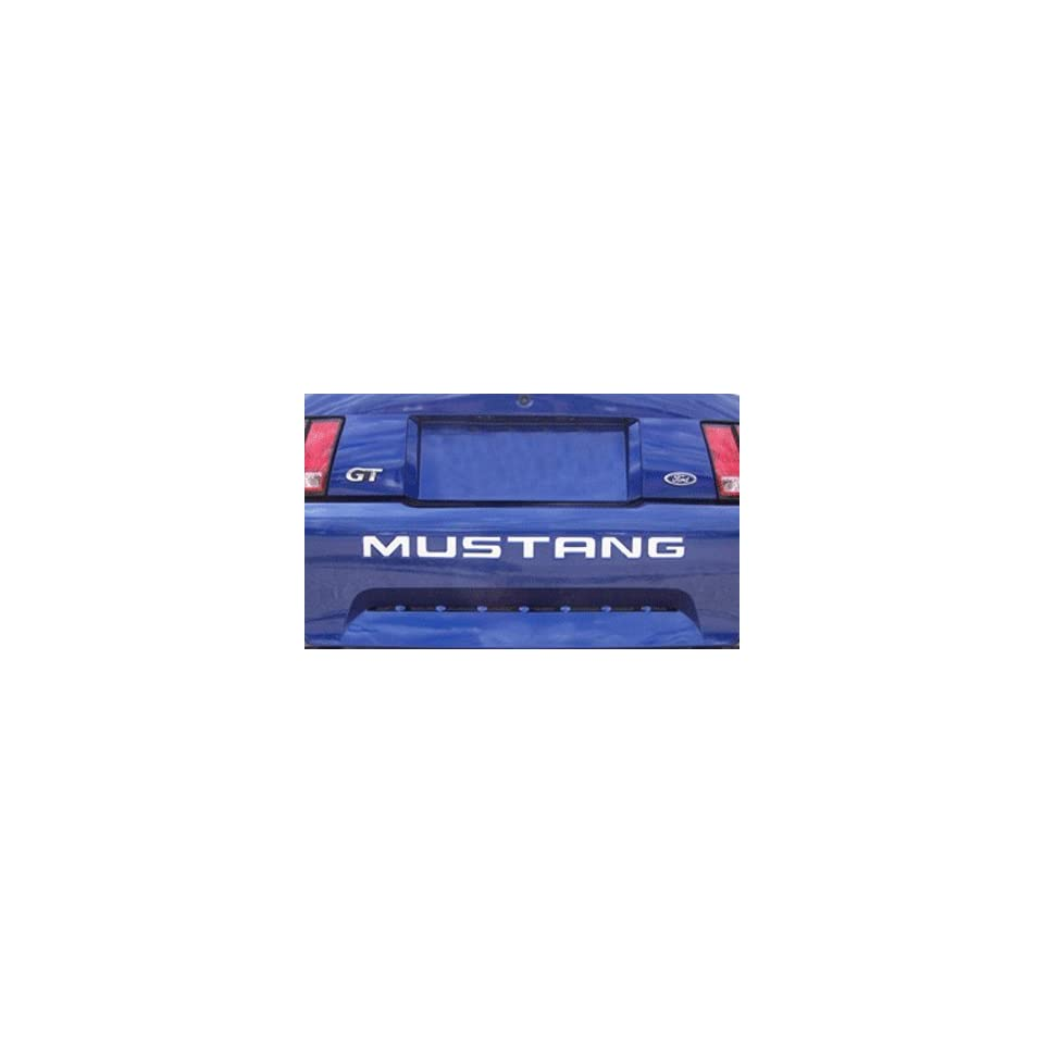1999 04 FORD MUSTANG REAR BUMPER VINYL INSERTS Decals Letters   37 Colors to choose from (Color  Black)