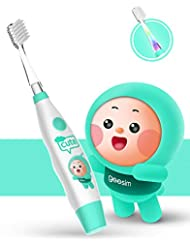 kids& Baby Toothbrush Electric Sonic Battery Powered With Smart Timer and Colorful LED, Baby &kids Electric Toothbrushes—Baby Sonic Toothbtush(BLUE)