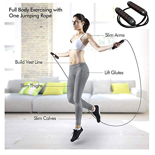YHKJ Jump Rope,Workout Skipping Exercise Fitness,Jumping Rope  for Adults Women Men Kids