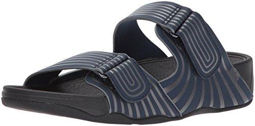 FitFlop Men's Gogh Sport Adjustable Slide Sandal, Midnight Navy, 13 M US