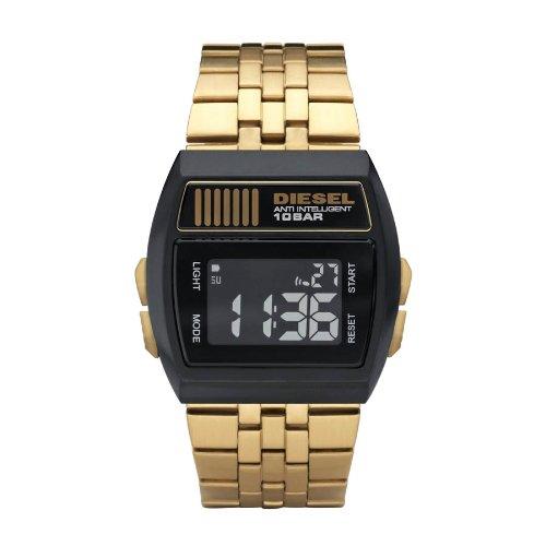 Diesel Dz7195 DZ7195 - Reloj digital de cuarzo para mujer, correa de acero inoxidable chapado