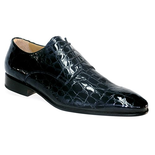 Grandi Chaussures Grandi Carpe Hommes Faits À La Main Chaussures Basses Blu Lucido