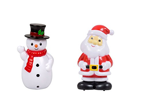 Talking Snowman - Christmas House Motion-Sensing Plastic Singing Santa and Snowmen, 5.75 in each