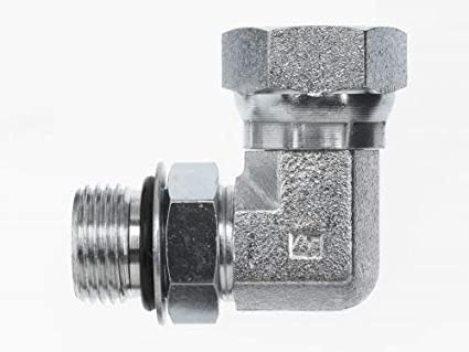 6806-04-02 Hydraulic Adapter 1//4 Male BOSS Swivel X 1//4 Male Pipe 90 Degree Carbon Steel