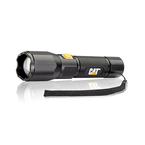 Cat CT2405 420 Lumen Rechargeable Focusing Beam Tactical LED Flashlight with Battery Charge Level Indicator(Black/Yellow) -  California Auto Tech