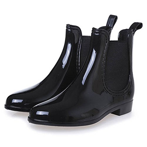 Rain Wellies Snow Topteck Boots Wellies Womens Black Boots Wellington 4Ff4nwPxIq
