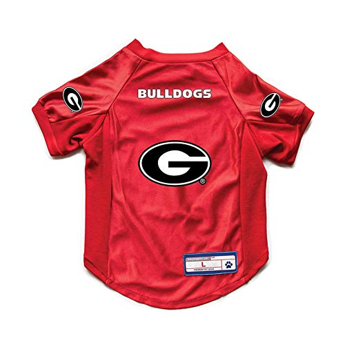NCAA Georgia Bulldogs Pet JerseyJersey Stretch, Team Color, Extra Large