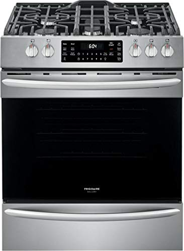 Frigidaire FGGH3047VF 30″ Gallery Series Gas Range with 5 Sealed Burners, griddle, True Convection Oven, Self Cleaning, Air Fry Function, in Stainless Steel