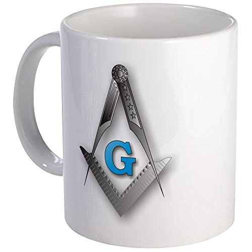 CafePress - Masonic Square And Compass - Unique Coffee Mug, 11oz Coffee Cup (Freemason Coffee Cup compare prices)