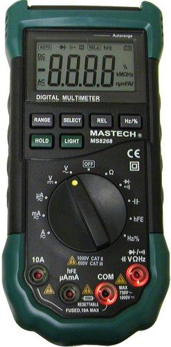 Tekpower Mastech MS8268 Digital AC/DC Auto/Manual Range Digital Multimeter Meter