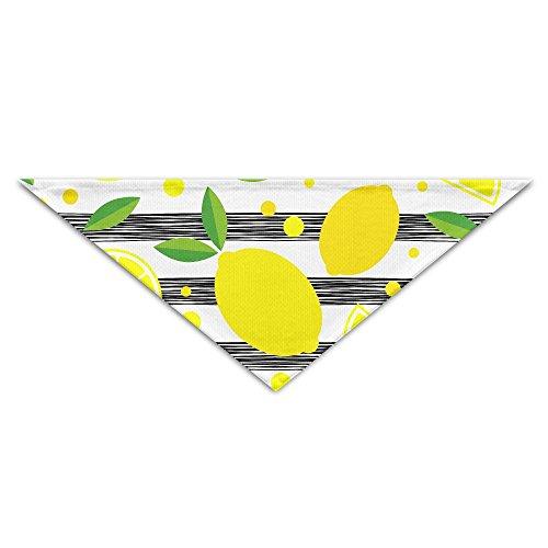 Logic Theory Lemonade Black Stripe Pet Scarf Dog Cat Bandana Collars Triangle Neckerchief