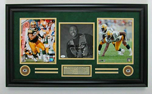 Reggie White Signed Photograph - 8x10 Collage Framed 142800 - JSA Certified - Autographed NFL Photos