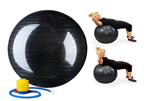 Scott Malone Static Strength Exercise Stability Ball with Pump