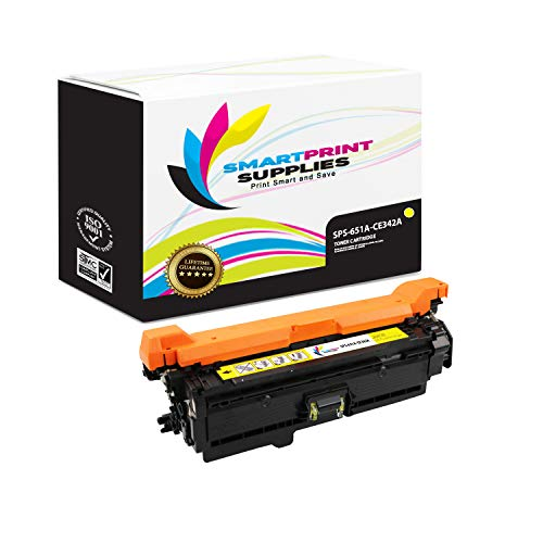 Smart Print Supplies Compatible 651A CE342A Yellow Toner Cartridge Replacement for HP Color Laserjet MFP M775 M775D, Enterprise 700 M775DN M775F M775Z+ Printers (16,000 Pages) ()
