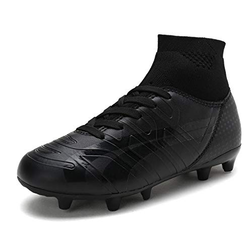 DREAM PAIRS Toddler 160862-K All Black Soccer Football Cleats Shoes - 10 M US Toddler ()