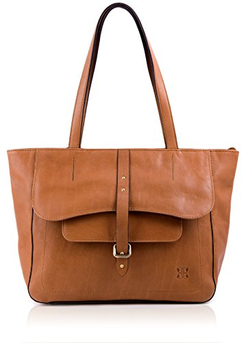 Kirkby Leather Shopper Shoulder Bag in Tan