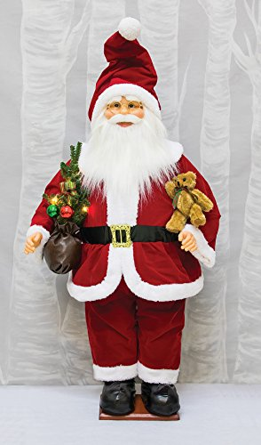 Inflatable Fabric Classic Santa with Light Up Tree, 20