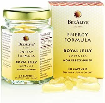 BEEALIVE Royal Jelly Energy Formula Non Freeze-Dried 150mg 30 Capsules