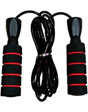 Fully Adjustable Jump Rope With Bearing - Black/Red