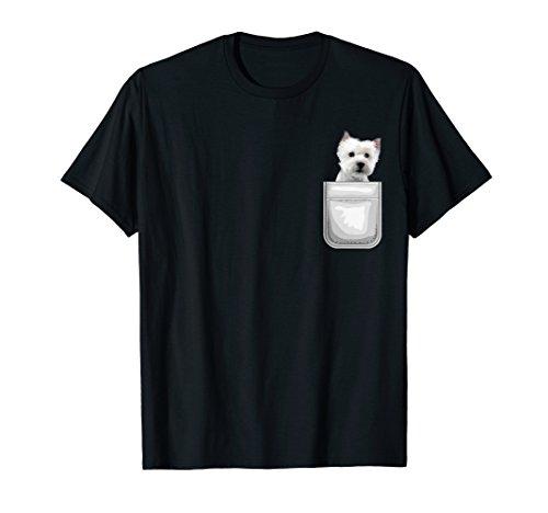 (West Highland Terrier Westie Dog in Your Pocket T-Shirt)