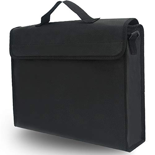 """Box Non Waterproof (Fireproof Document Bags XXL 16""""X14""""X5"""" 2300℉ Water Resistant Pouch Non-Itchy Silicone Coated Fiberglass Fire-Resistant Safe Storage Case for Valuable Files Cash Jewelry Passport Laptop)"""