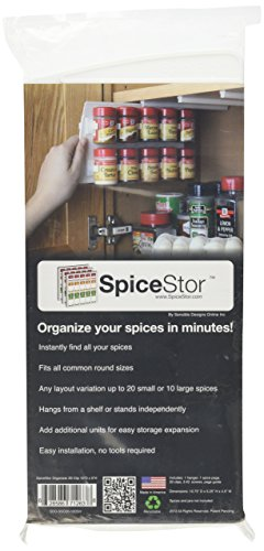 Kitchen SpiceStor Organizer Spice Rack 20 Clip, 10″ x 5″ spice racks