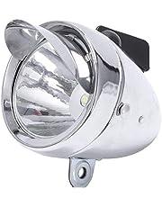 Retro fiets koplamp, led hoofd lamp fiets chroom vizier koplamp, metalen Shell nacht veiligheid Front fiets licht