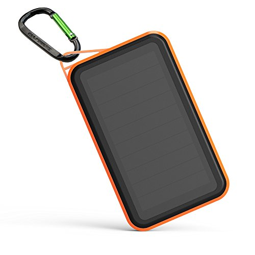 ALLPOWERS Solar Charger 15000mAh Portable Power Bank with SUNPOWER Solar Panel (Highest Efficiency, Quick Charge, 4.5A Output for cell phone, iPhone, iPad, Samsung(Orange)