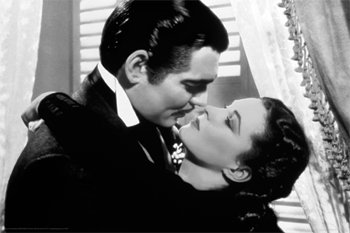 Wind Kiss - GONE WITH THE WIND POSTER - FAMOUS KISS SCENE - 24X36