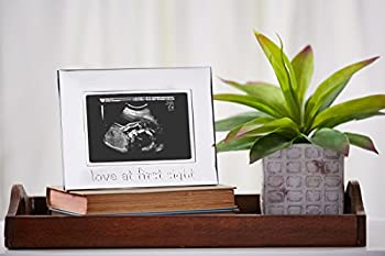 Tiny Ideas Sonogram Keepsake Photo Frame, Silver 2