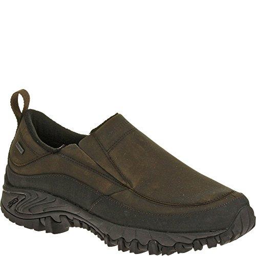 Merrell Men's Shiver Moc Waterproof Slip-On Shoe,Dark Earth,1 M (Moc Waterproof Shoes)