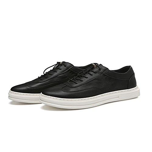 WZG Los nuevos zapatos blancos, zapatos zapatos de moda de los hombres, zapatos casuales Bullock Black