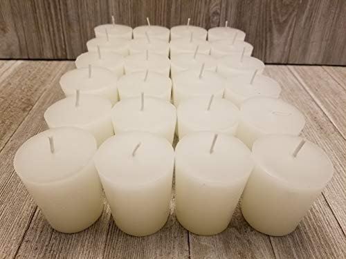 Old Candle Barn 24-Piece Votive Candles - Vanilla Scented 15 Hour - Perfect White Votives - Hand Poured Made in USA by Old Candle Barn