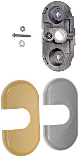 APDTY 035391 Sun Visor Hinge Bracket Mount Repair Kit Fits Right Passenger-Side 2002-2005 Ford Explorer Lincoln Aviator Mercury Mountaineer Sport Trac (Replaces 5L2Z7804105AB, 5L2Z7804105CB)