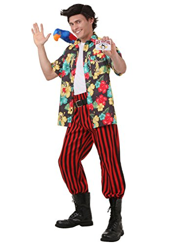 Ace Ventura Costume with Wig Large - Ace Ventura Pet Detective Costume