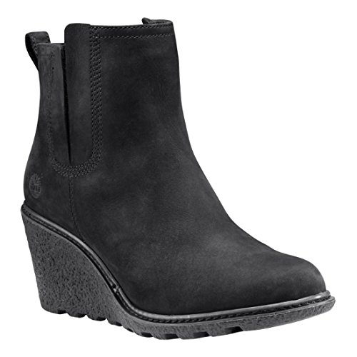 Timberland Amston Chelsea Wedge Black Womens Boots Black
