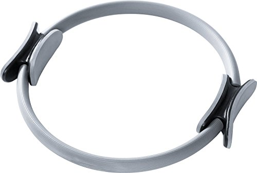 Pilates Ring Body Gym Magic Circle Thigh Toner Medium Resistance Dual Gripped Handles Home Exercise Equipment Fitness Equipment Yoga Wheel 15 Inch Gray