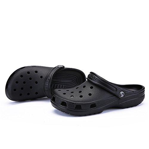 Vamp Sandali Nero fondo 46 fino alla Mens 2018 da da cava taglia uomo con shoes impermeabili donna e T7nqE