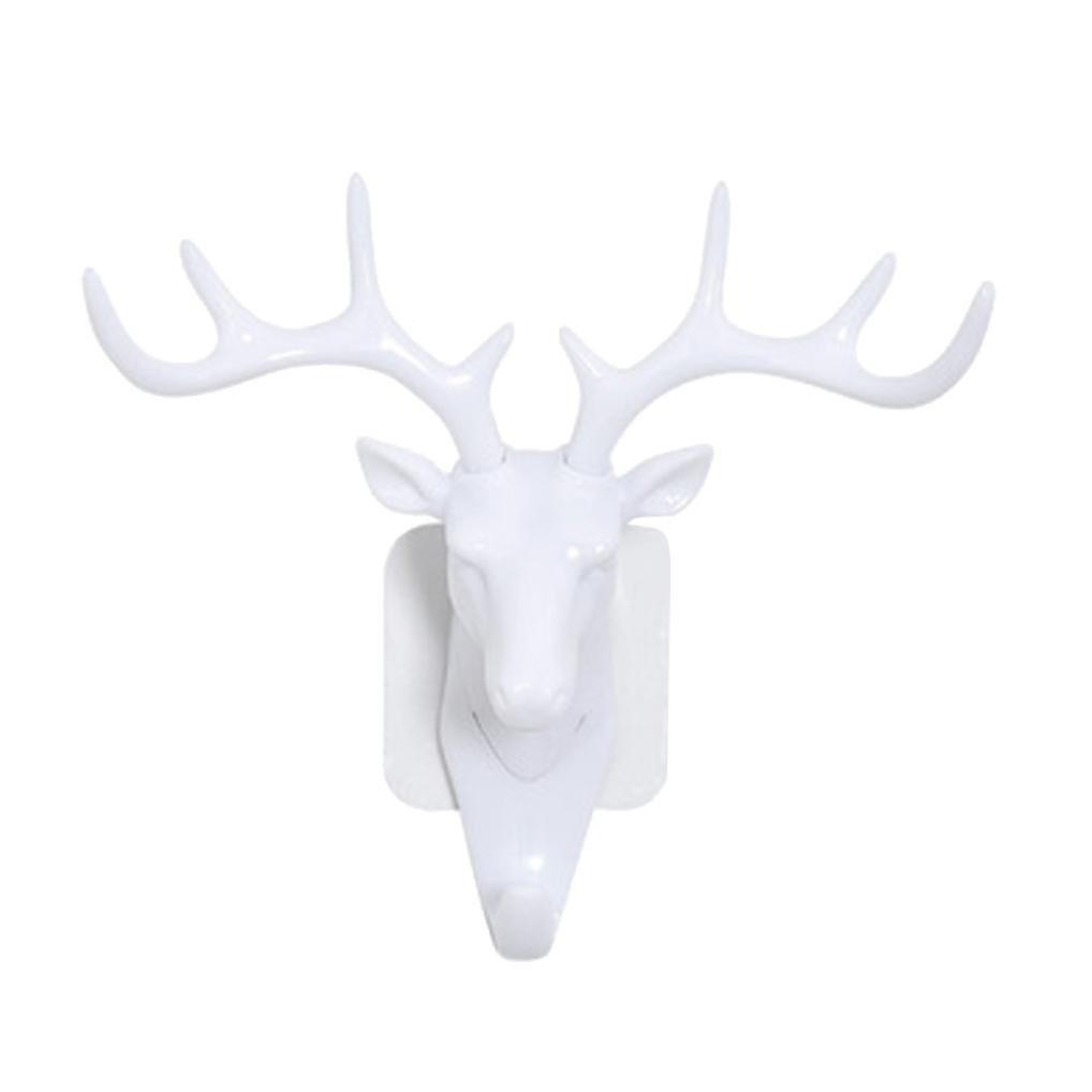 Gray Oyedens Wall Door Deer Head Self Adhesive Decorative Hooks Hangers Coats Bag Keys Sticky Holder