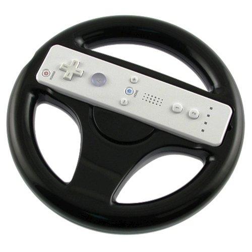 New Black Steering Wheel for Wii Mario Kart Racing Game [Electronics]