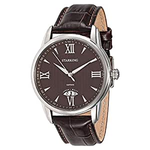 Starking Men's Brown Dial Leather Band Watch - BM0895SL99