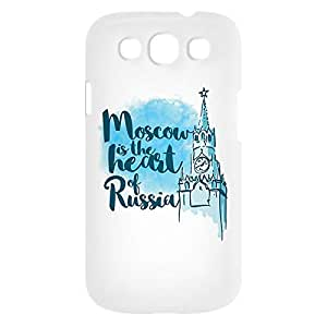 Loud Universe Samsung Galaxy S3 Moscow Is The Heart Of Russia Print 3D Wrap Around Case - White/Blue