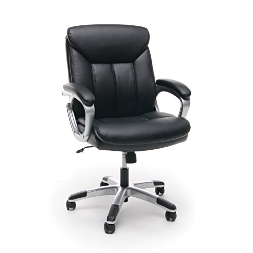 Essentials Leather Executive Computer/Office Chair with Arms -...