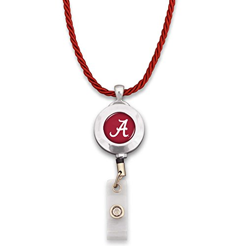 Alabama Crimson Tide Badge Clip Reel with Necklace