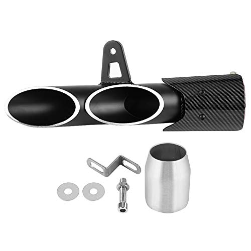 - Exhaust Pipe, 51mm Universal Motorcycle Slip on Exhaust Muffler Rear Pipe Glossy Black Exhaust Tailpipe