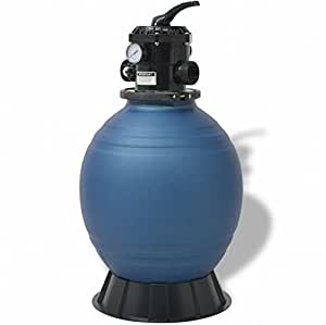 SKB Family Pool Sand Filter 18 inch Round Blue Clear Ground Pump