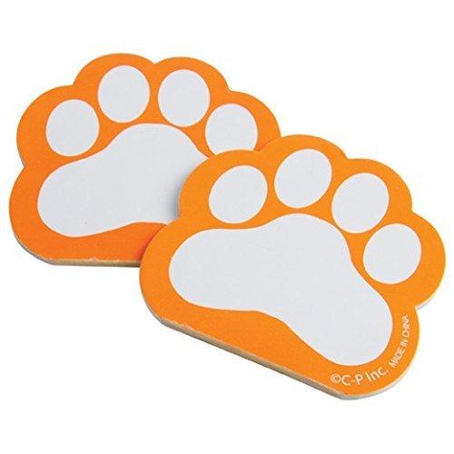 U.S. Toy Dozen Orange Paw Print Themed Mini Notebook Memo Pads