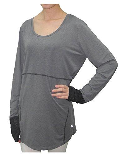 bally-total-fitness-womens-lightweight-crew-neck-yoga-shirt-l-grey